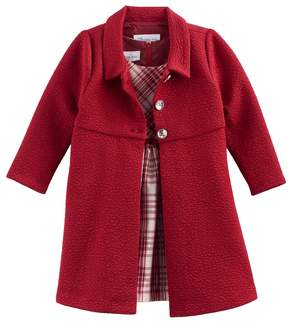 Bonnie Jean Baby Girl Plaid Dress & Jacket Set