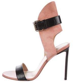 Francesco Russo Leather Ankle Strap Sandals