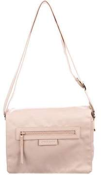 Longchamp Leather-Trimmed Messenger Bag