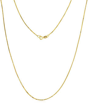 JCPenney FINE JEWELRY Made in Italy 14K Gold .75mm Box Chain Necklace