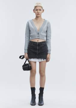 Alexander Wang HI RISE DENIM MINI SKIRT DENIM