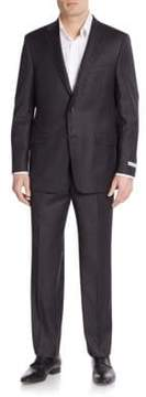 Hickey Freeman Milburn Regular-Fit Solid Wool Suit