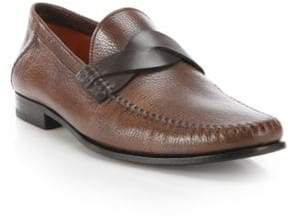 Santoni Twist Keeper Leather Loafers