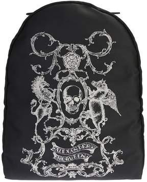Alexander McQueen Nylon Skull Coat Of Arms Backpack