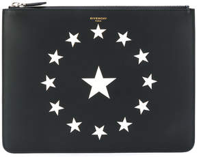 Givenchy star printed clutch