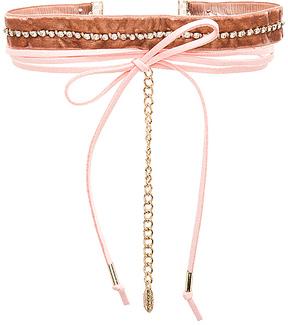 Ettika Velvet & Leather Wrap Choker