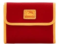 Dooney & Bourke Patterson Leather Small Flap Credit Card Wallet - RED - STYLE