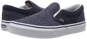 Vans Kids Classic Slip-On Dress Blues) Boys Shoes