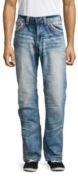 Affliction Five-Pocket Whiskered Denim Pants