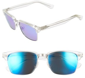 Maui Jim Men's Kawika Polarizedplus2 54Mm Rectangular Sunglasses - Crystal
