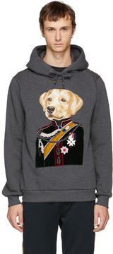 Dolce & Gabbana Grey Royal Labrador Hoodie