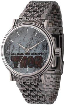 Marvel Mens Silver Tone Strap Watch-Wma000197