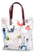 Marc Jacobs Women¿s Polyester ¿byot Collage Print¿ Tote Bag White. - WHITE - STYLE