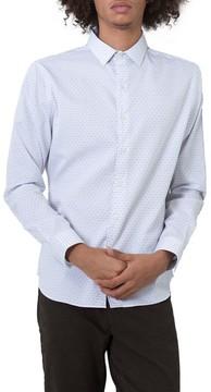 7 Diamonds Men's Echos Microprint Sport Shirt