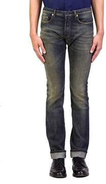 Christian Dior Men's Blue Marine Slim Fit Denim Jeans Pants Blue.