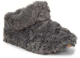 Isotoner Faux Fur Bootie Slippers