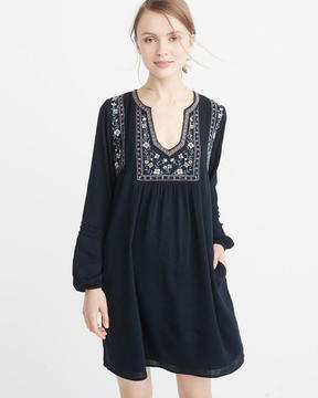 Abercrombie & Fitch Embroidered Peasant Dress