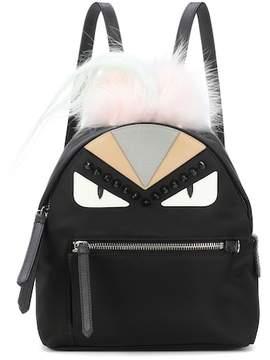 Fendi Fur-trimmed mini backpack