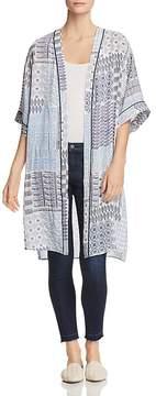 Daniel Rainn Floral-Print Duster Kimono Jacket