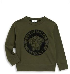 Versace Little Boy's & Big Boy's Graphic-Print Sweater