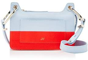 Jason Wu Suvi Color-Block Snakeskin Shoulder Bag