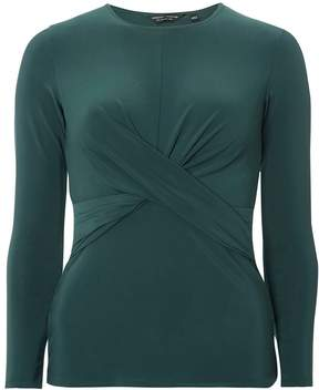 Dorothy Perkins Green Crossover Long Sleeve Top
