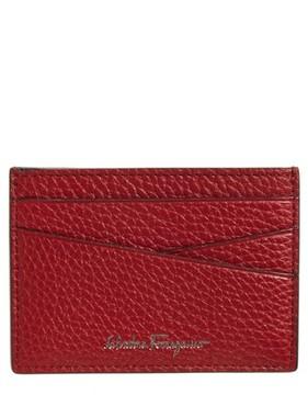 Salvatore Ferragamo Men's Leather Card Case - Red