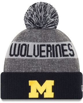 New Era Adult Michigan Wolverines Sport Knit Beanie