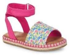 Toms Little Girl's & Girl's Malea Floral Espadrille Sandals