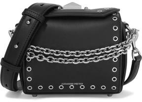 Alexander McQueen - Box Bag 19 Embellished Leather Shoulder Bag - Black