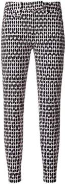 Dondup printed skinny cropped trousers