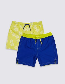 Marks and Spencer 2 Pack Swim Shorts (0-8 Years)