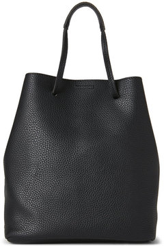 Street Level Black Faux Leather Bucket Bag