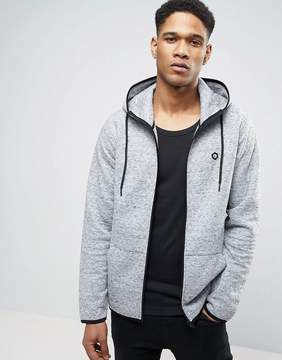 Jack and Jones Core Zip Hoodie with Quilted Stich Detail