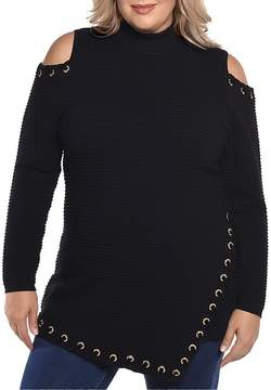 Belldini Embellished Cold Shoulder Sweater - 100% Exclusive