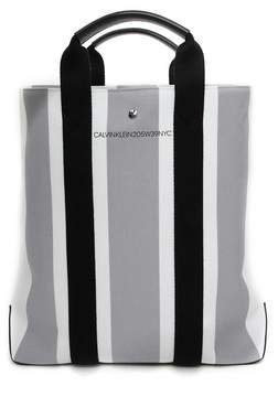 Calvin Klein Striped Canvas Tote Bag
