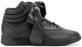 Reebok Freestyle Hi Satin Bow sneakers