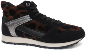 Bamboo Black & Brown Leopard Pantheon Sneaker