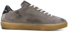 Leather Crown perforated logo sneakers