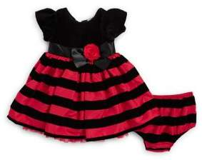 Little Me Baby Girl's Two-Piece Striped Dress and Bloomers Set