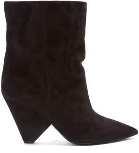 Saint Laurent Niki suede ankle boots