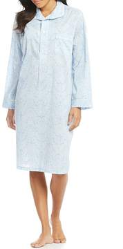 BedHead French Lace-Print Voile Sleepshirt