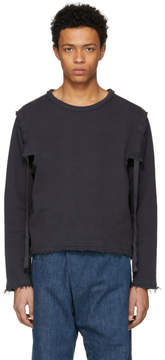 J.W.Anderson Grey Raw Edge Open Side Sweatshirt