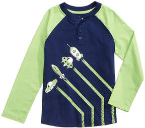 Epic Threads Take-Off Graphic-Print Henley, Little Boys (4-7), Created for Macy's