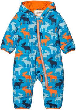 Hatley Blue Moose Puffer Snowsuit