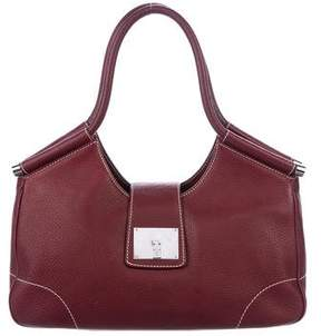 Lambertson Truex Grained Leather Shoulder Bag