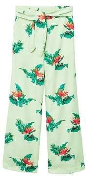 MANGO Bow printed trouser