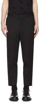 McQ Black Doherty Zip Trousers
