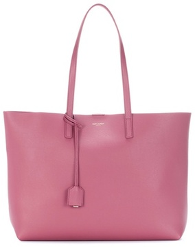 Saint Laurent Leather shopper - PINK - STYLE