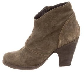 Fiorentini+Baker Suede Round-Toe Ankle Boots